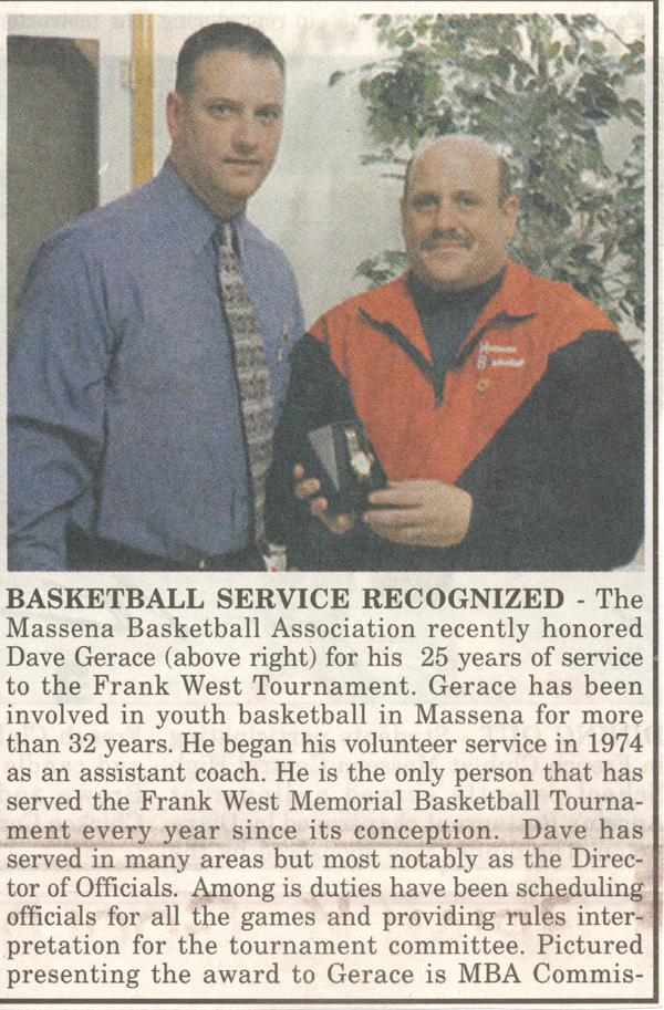 Service Award Dave G